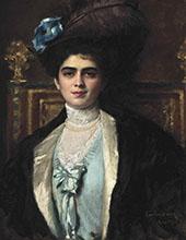 Madame Lafourcade nee Cortira a la Havane By Charles Auguste Emile Durand (Carolus-Duran)