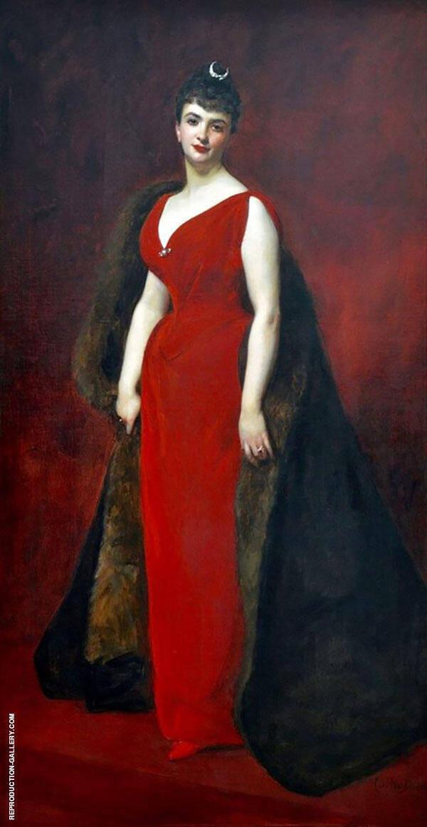 Marguerite Stern Painting By Charles Auguste Emile Durand (Carolus-Duran)