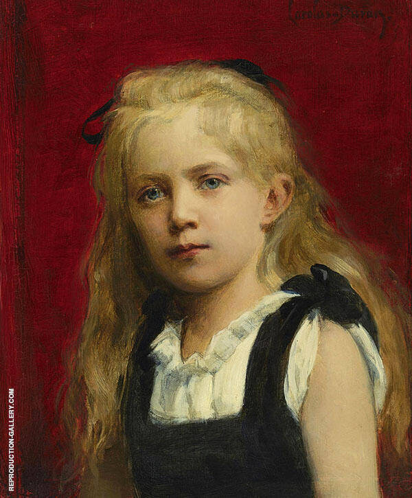 Portrait of a Girl 1880 Painting By ... - Reproduction Gallery