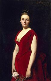 Portrait of Anna Obolenskaya By Charles Auguste Emile Durand (Carolus-Duran)