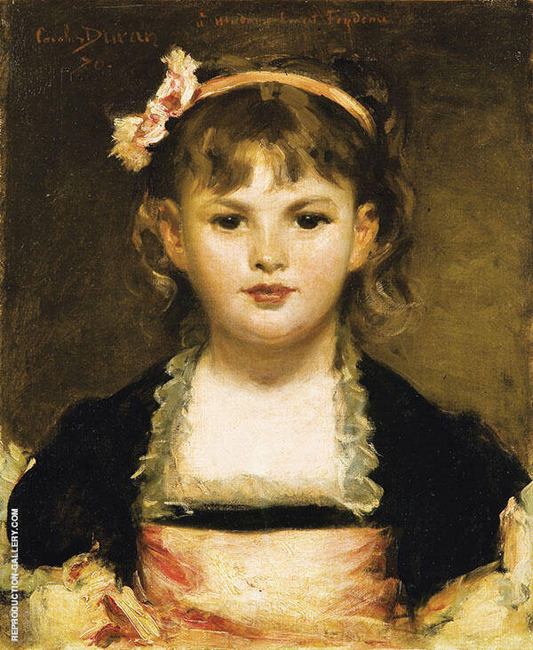 Portrait of A Young Girl By Charles Auguste Emile Durand (Carolus-Duran)