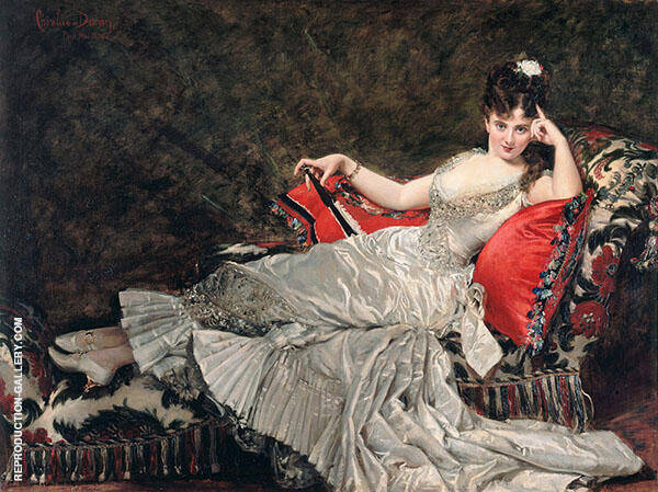 Portrait of Julia Tabl 1876 Painting By ... - Reproduction Gallery