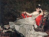 Portrait of Julia Tabl 1876 By Charles Auguste Emile Durand (Carolus-Duran)