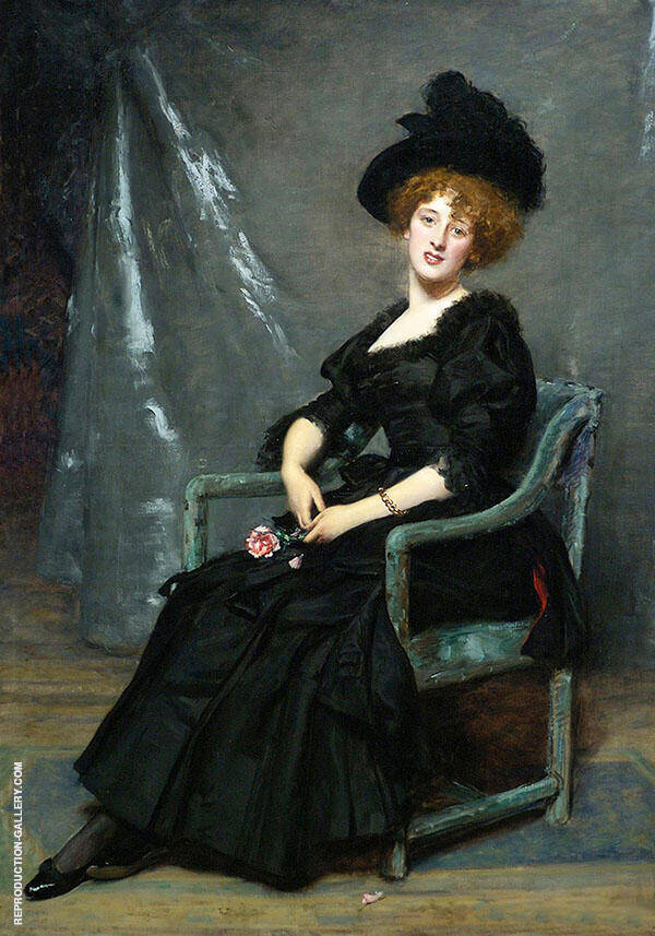 Portrait of Lucy Lee Robbins By Charles Auguste Emile Durand (Carolus-Duran)