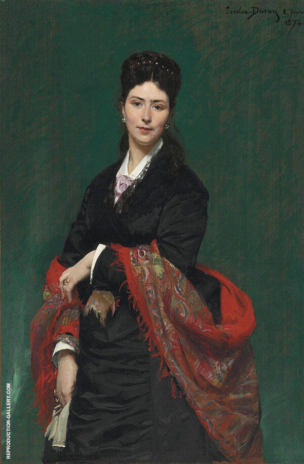 Portrait of Madame Marie Clerc Painting By ... - Reproduction Gallery