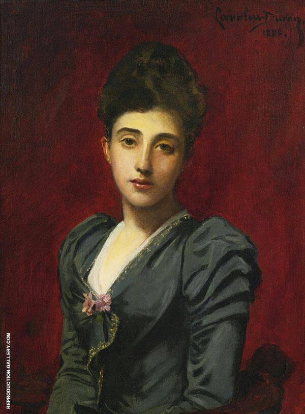 Portrait of The Countess Lily de Roussy de Sales By Charles Auguste Emile Durand (Carolus-Duran)