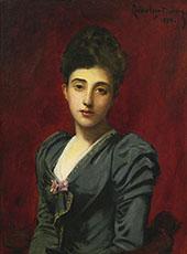 Portrait of The Countess Lily de Roussy de Sales By Charles Auguste Emile Durand (Carolus-Duran)