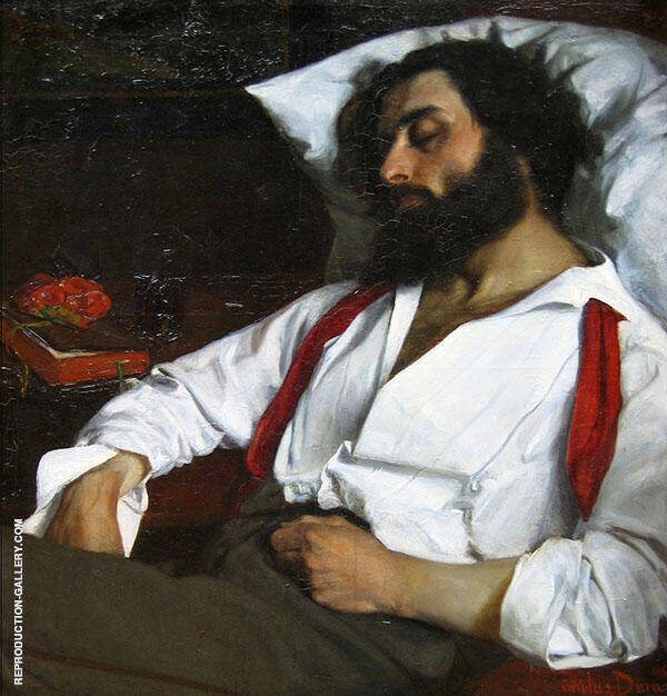 Sleeping Man 1861 Painting By Charles Auguste Emile Durand (Carolus-Duran)