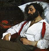 Sleeping Man 1861 By Charles Auguste Emile Durand (Carolus-Duran)