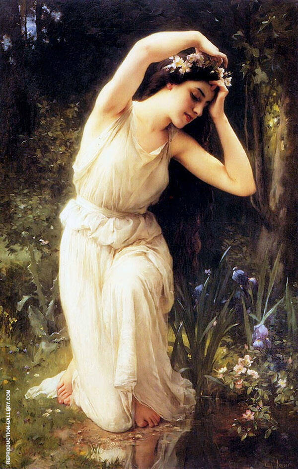 A Nymph in The Forest By Charles Amable Lenoir