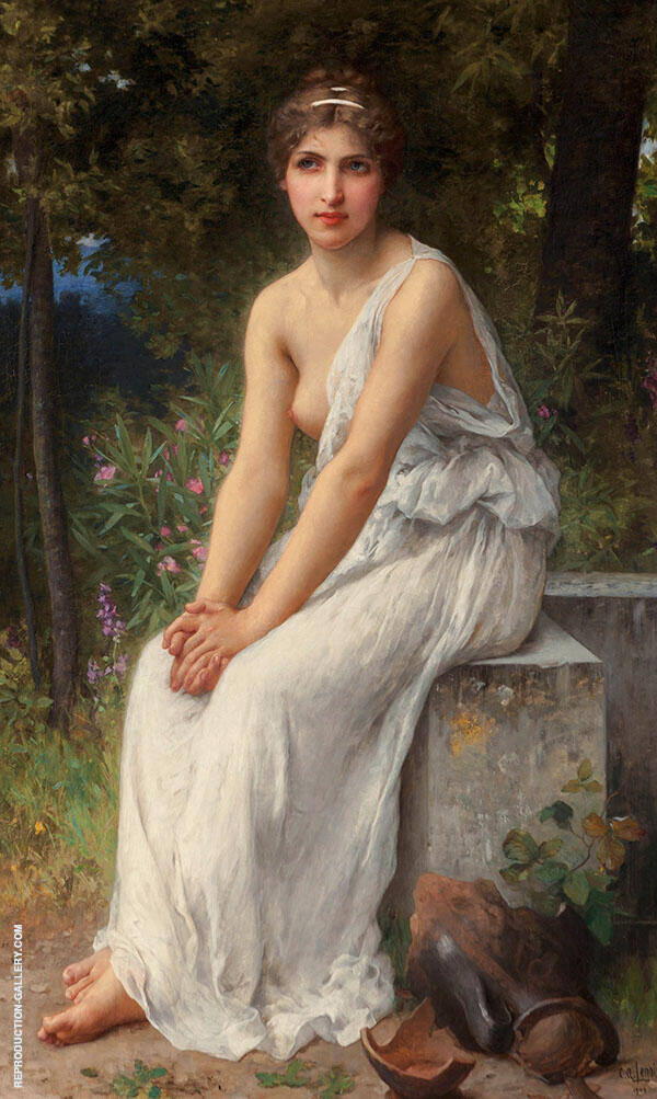 Beauty in a Garden Painting By Charles Amable Lenoir