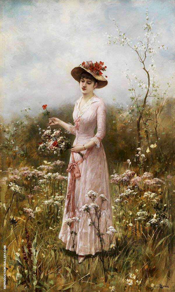 Elegante Dame Painting By Charles Amable Lenoir - Reproduction Gallery
