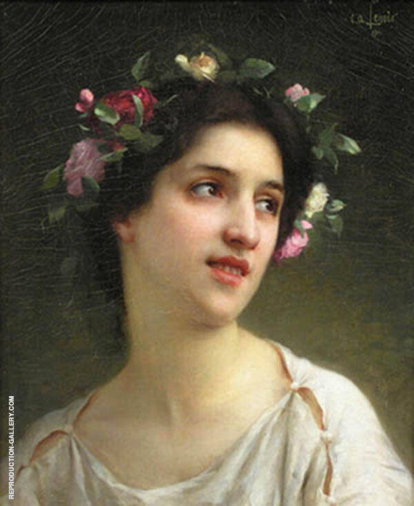 Head of a Nymph 1901 Painting By Charles Amable Lenoir
