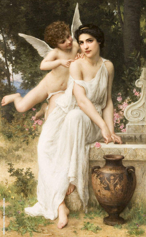 Loves Whisper Painting By Charles Amable Lenoir - Reproduction Gallery