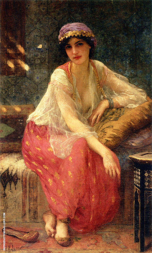 Odalisque Painting By Charles Amable Lenoir - Reproduction Gallery