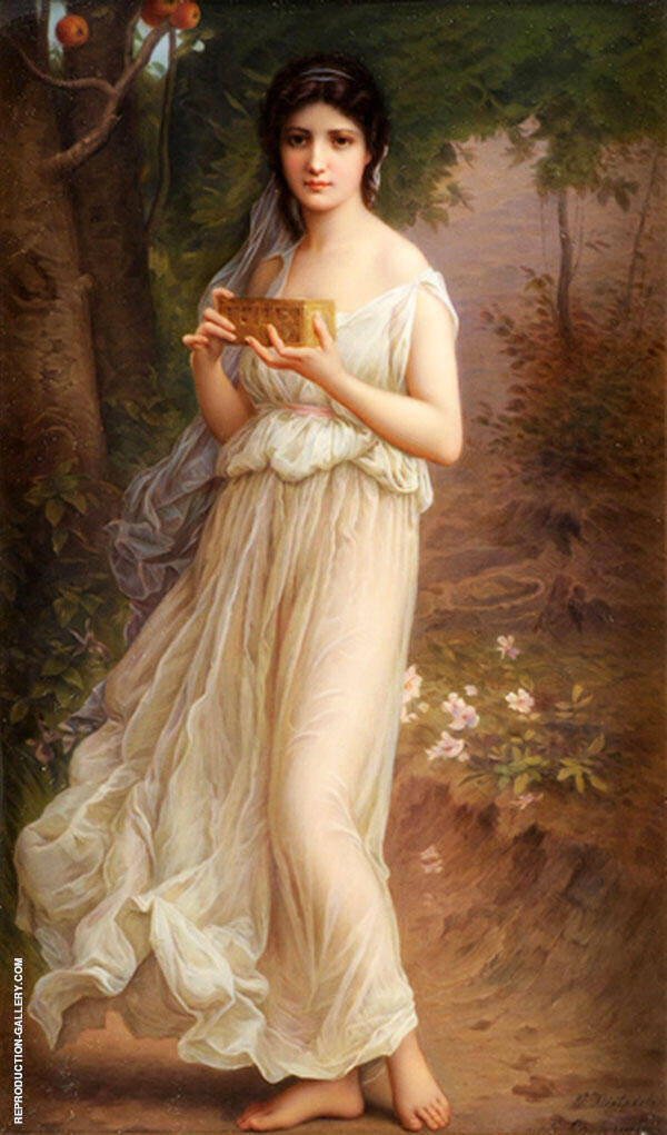 Pandora Painting By Charles Amable Lenoir - Reproduction Gallery