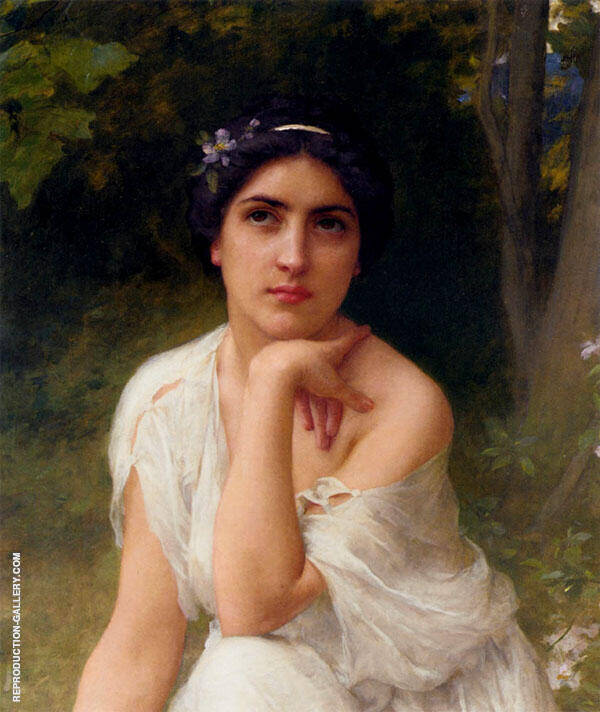 Pensive Painting By Charles Amable Lenoir - Reproduction Gallery