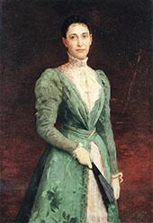 Portrait of Elizabeth Gardener Bouguereau By Charles Amable Lenoir