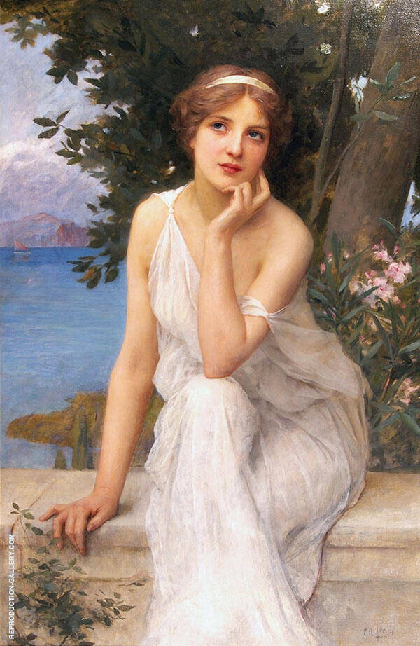 Reflective Thoughts Painting By Charles Amable Lenoir