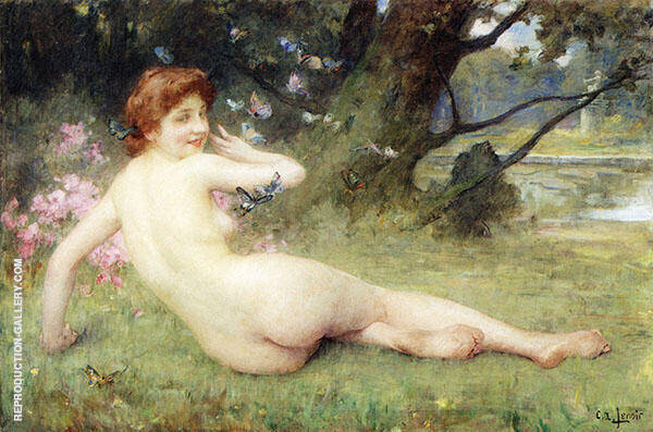 Springtime Painting By Charles Amable Lenoir - Reproduction Gallery