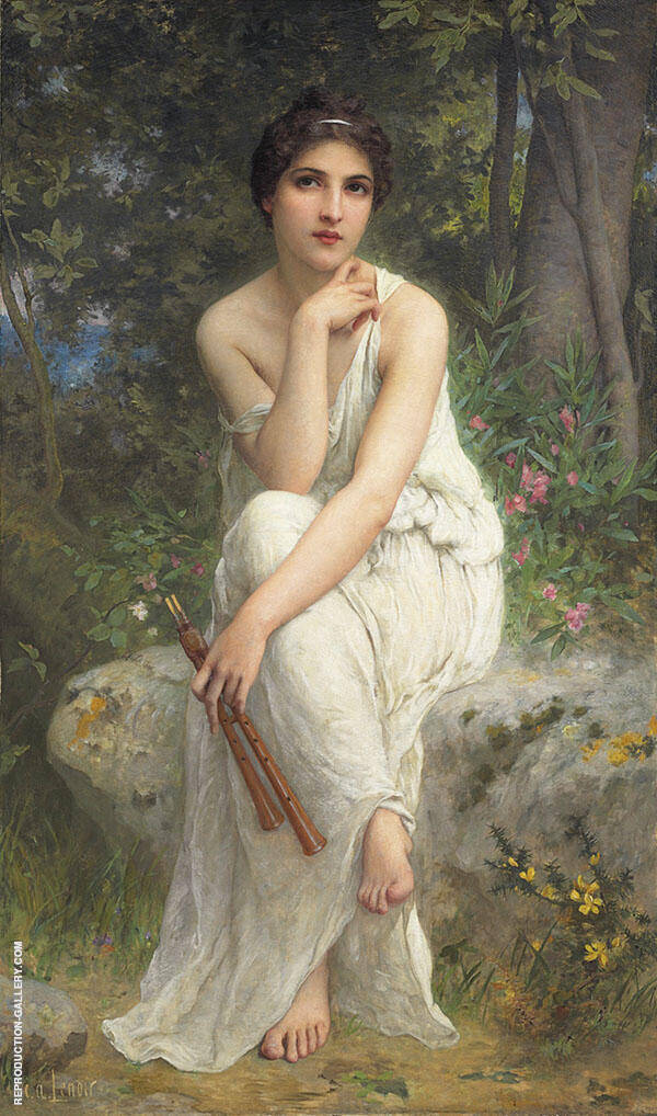 The Flute Player Painting By Charles Amable Lenoir - Reproduction Gallery