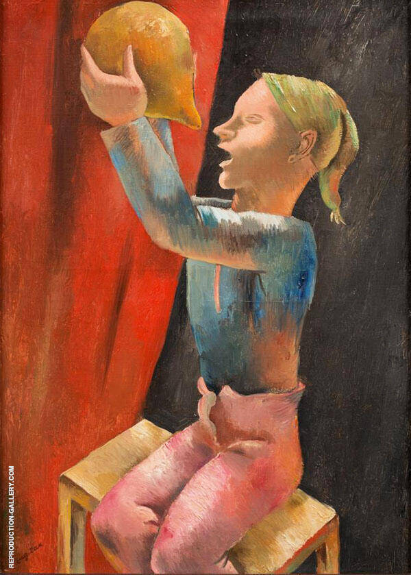 Drinking Boy 1925 Painting By Eugene Zak - Reproduction Gallery