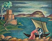 Fishermen's Idyll Invitation into The Boat 1914 By Eugene Zak