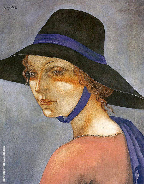 Head of a Girl in Profile Painting By Eugene Zak - Reproduction Gallery