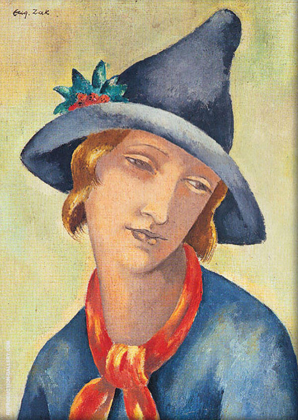 Head of a Woman Painting By Eugene Zak - Reproduction Gallery