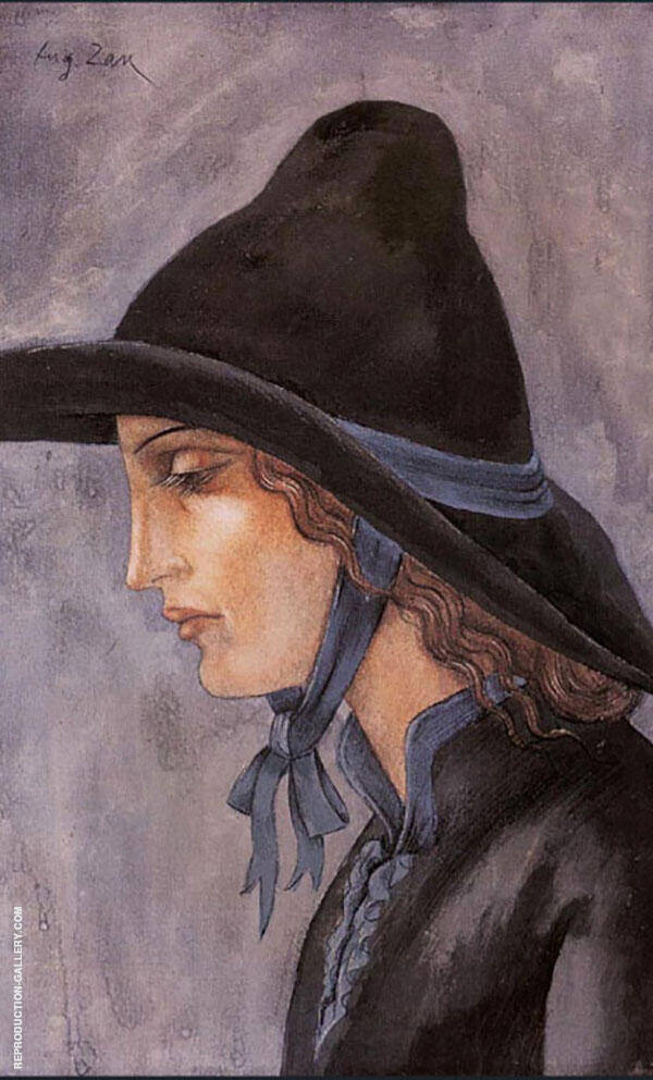 Head of a Woman 1914 By Eugene Zak