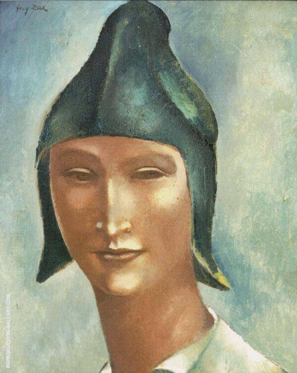 Head of a Young Man in a Pointed Hat Painting By Eugene Zak