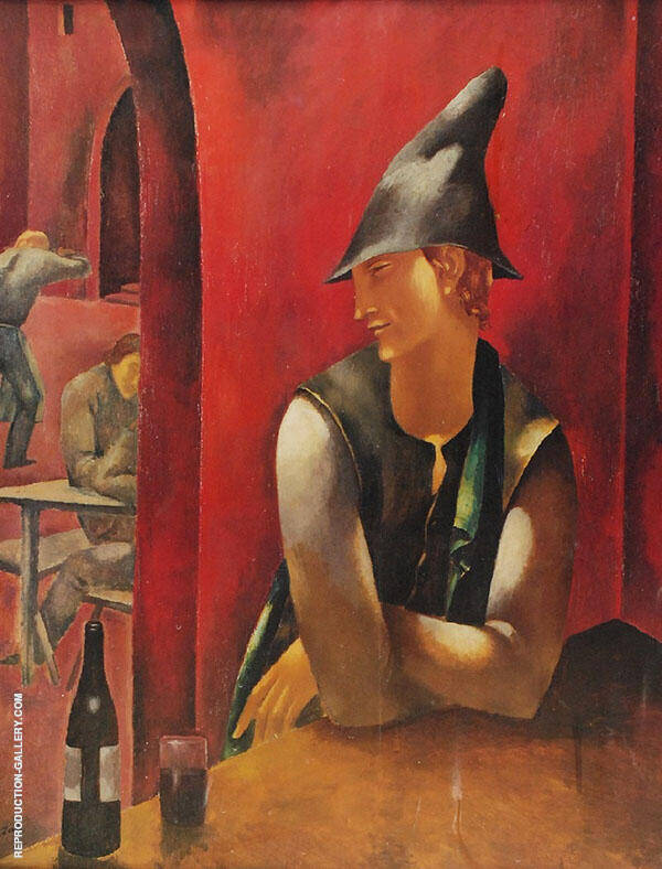 In The Cabaret Painting By Eugene Zak - Reproduction Gallery