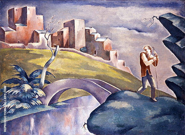 Landscape with Figure Painting By Eugene Zak - Reproduction Gallery