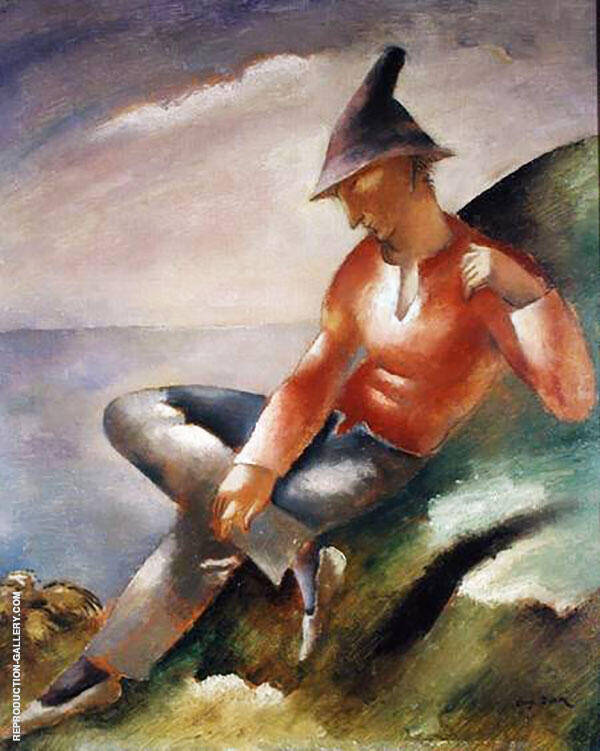 Man Resting Painting By Eugene Zak - Reproduction Gallery
