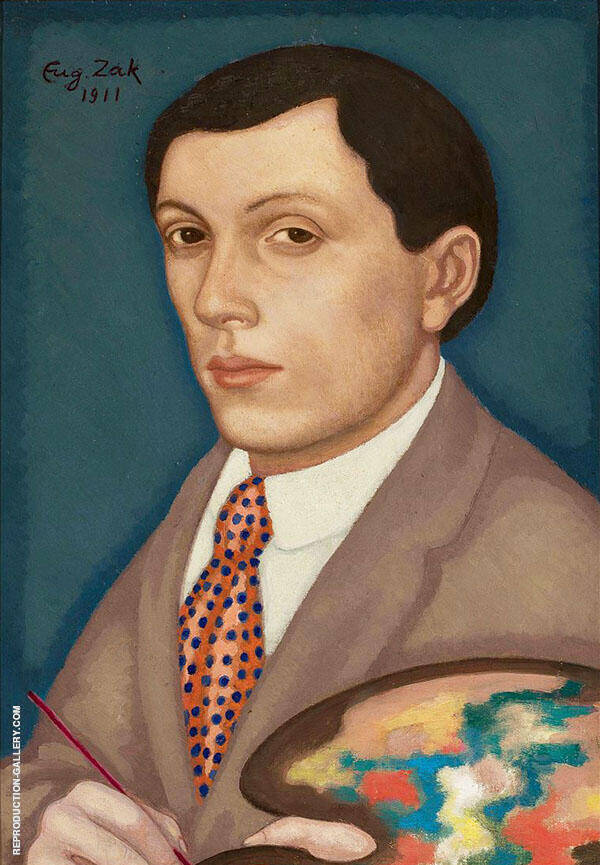 Self Portrait Painting By Eugene Zak - Reproduction Gallery