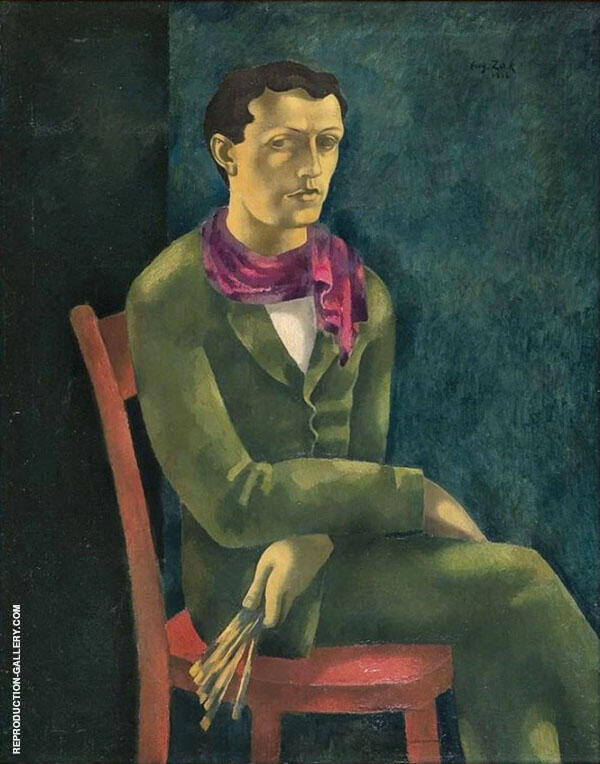 Self Portrait 1916 Painting By Eugene Zak - Reproduction Gallery