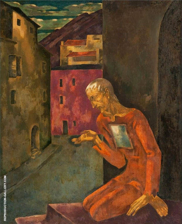 The Beggar Painting By Eugene Zak - Reproduction Gallery