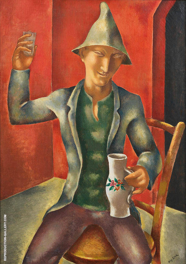 The Drinker Painting By Eugene Zak - Reproduction Gallery