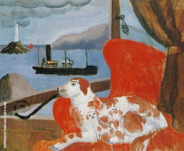 China Dog in a St. Ives Window 1926 By Christopher Wood