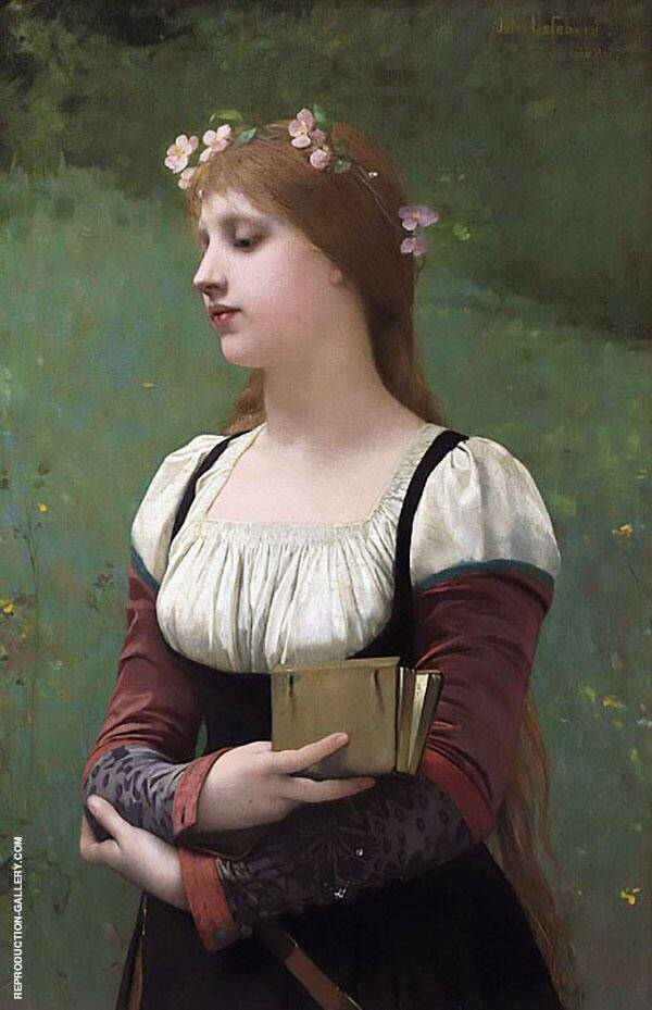 A Pensive Moment By Jules Joseph Lefebvre