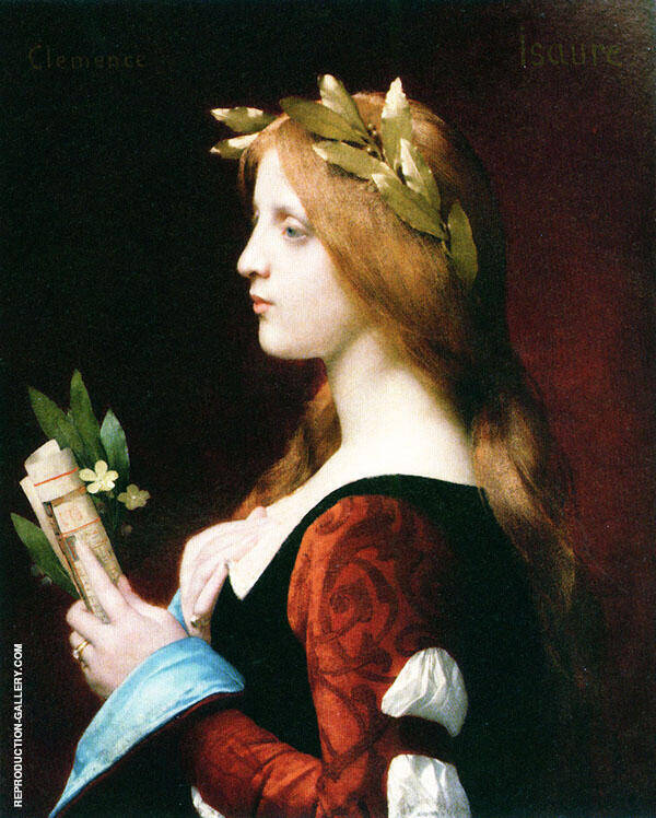 Clemence Isaure By Jules Joseph Lefebvre