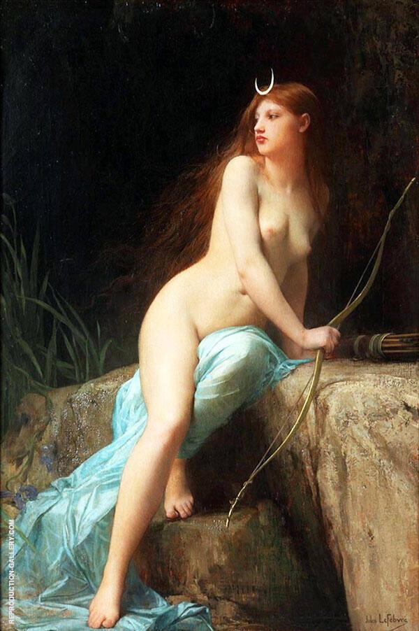 Diana Chasseresse By Jules Joseph Lefebvre