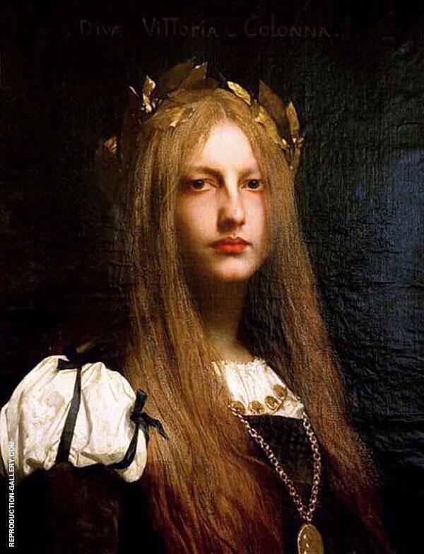 Diva Vittoria Colonna By Jules Joseph Lefebvre