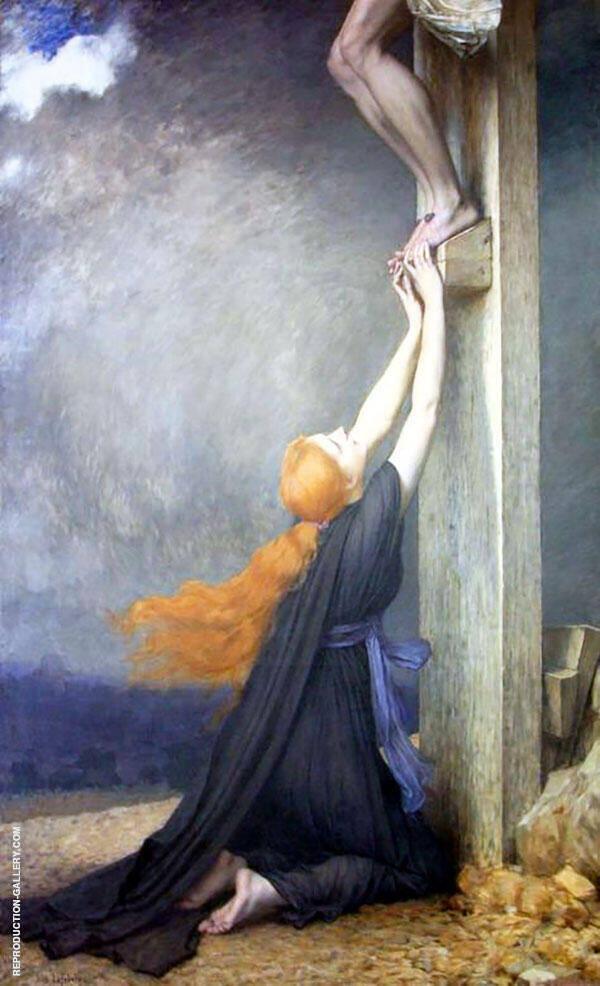 El Dolor de Maria Magdalena By Jules Joseph Lefebvre