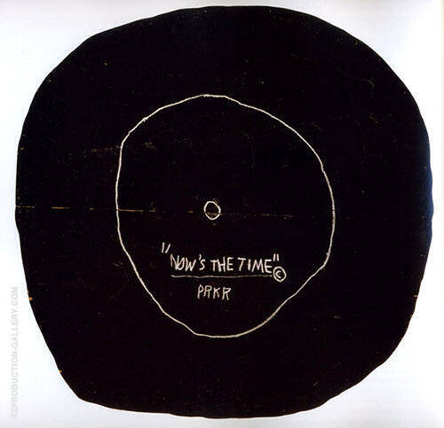 Now's the Time By Jean-Michel-Basquiat