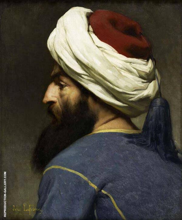 Head of an Arab By Jules Joseph Lefebvre