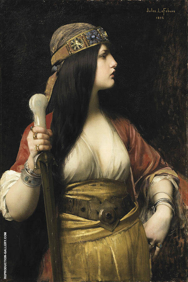 Judith 1892 Painting By Jules Joseph Lefebvre - Reproduction Gallery