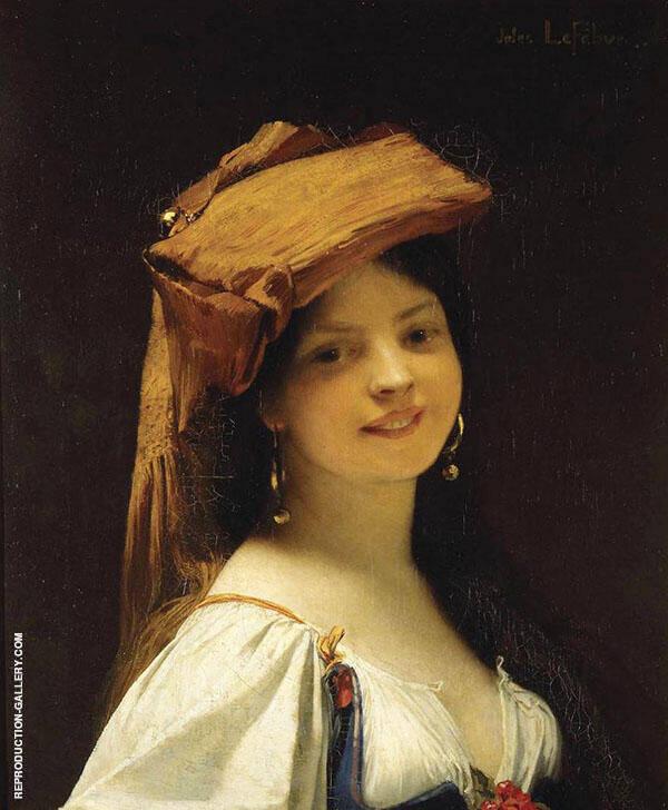 La Jeune Rieuse The Amused Young Lady 1861 By Jules Joseph Lefebvre