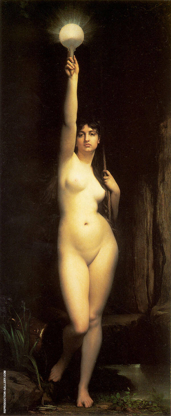 La Verite Truth Painting By Jules Joseph Lefebvre - Reproduction Gallery