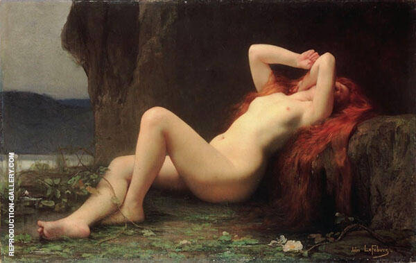 Mary Magdalene In The Cave Painting By Jules Joseph Lefebvre